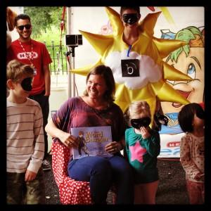 Word Burglars and Bright Skies at the Children's Tent.