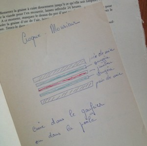 The illustrated Croque Monsieur, by Mme. Aufrere.