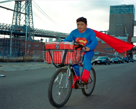 Photograph of Noe Reyes from the Superheroes project by Dulce Pinzón.