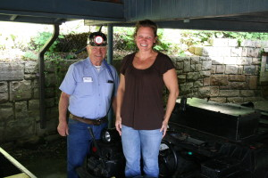 With Sonny Schumann at the Beckley Coal Mine